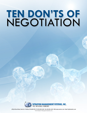 Ten Don'ts of Negotiation